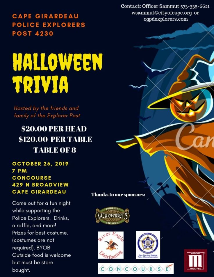 Copy of Dark Blue Frightful Scarecrow Halloween Flyer